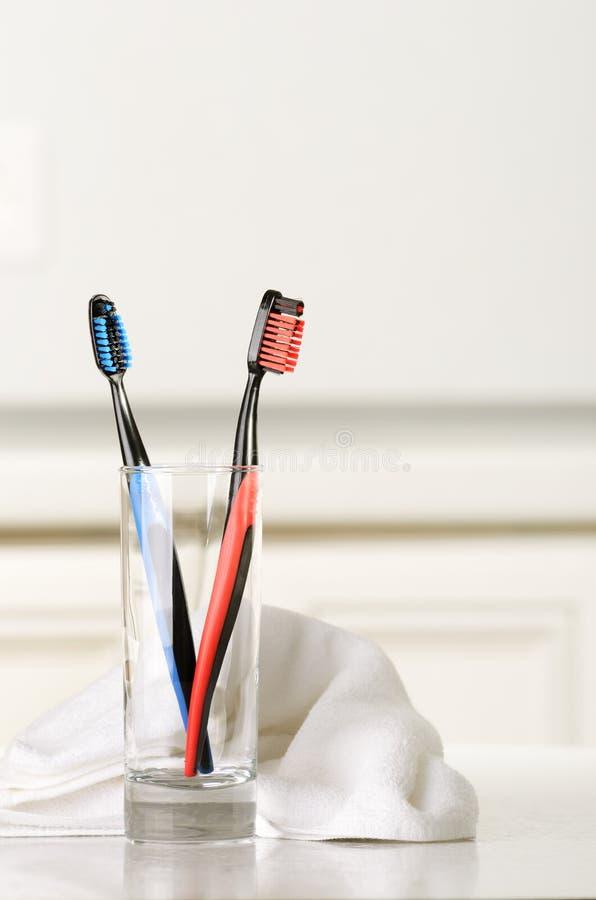Zahnbürsten stockbilder