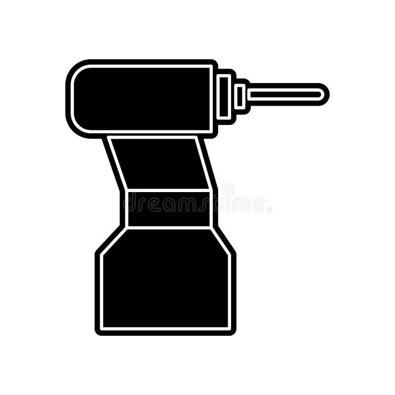Zahnbohrerlinie Ikone Element von Dantist f?r bewegliches Konzept und Netz Appsikone Glyph, flache Ikone f?r Websiteentwurf und lizenzfreie abbildung