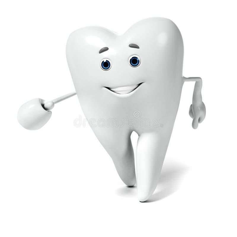 Zahncharakter vektor abbildung