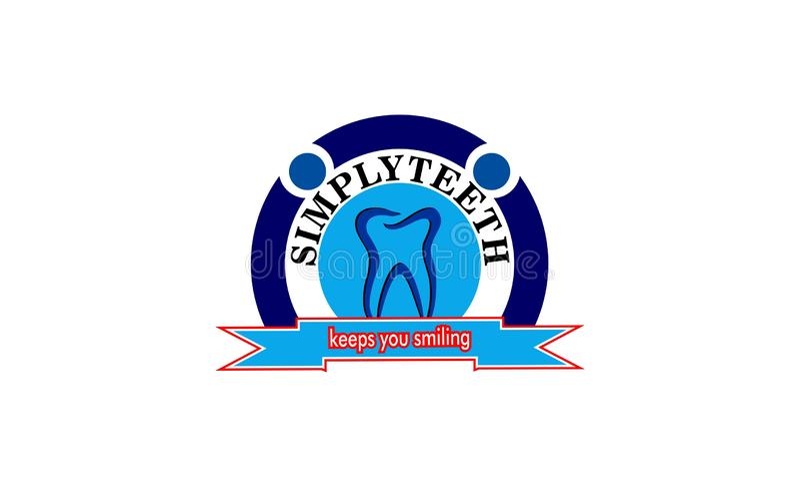 Zahngesundheitslogodesign stockbild
