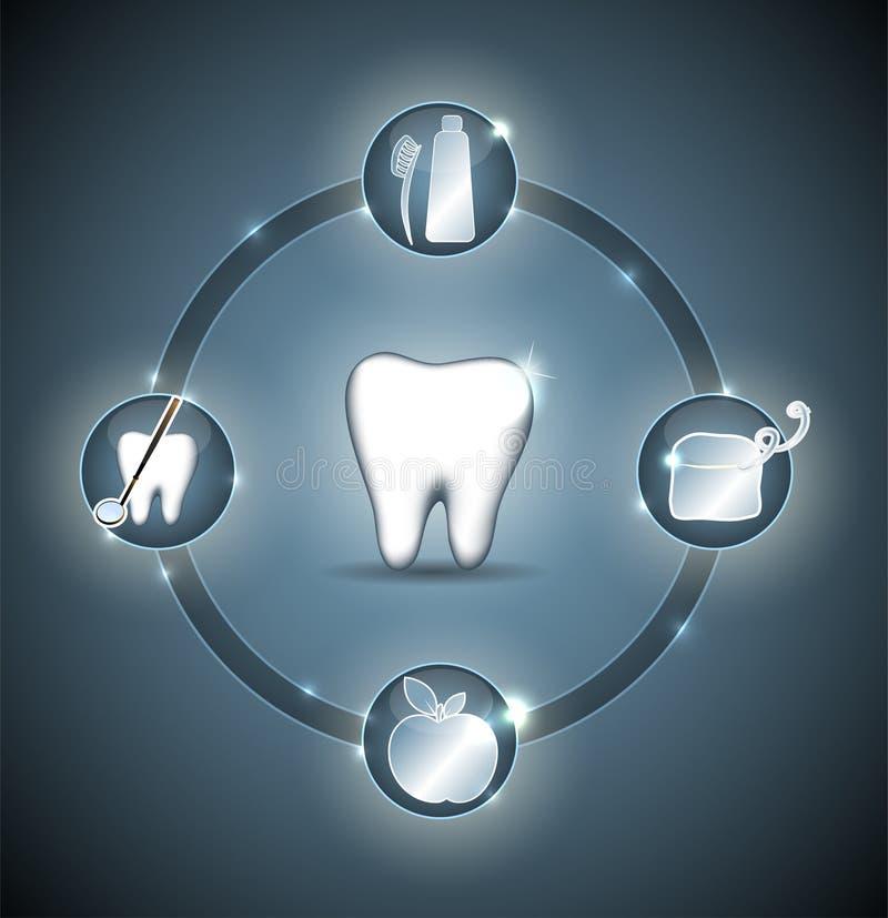 Zahngesundheitsrad vektor abbildung
