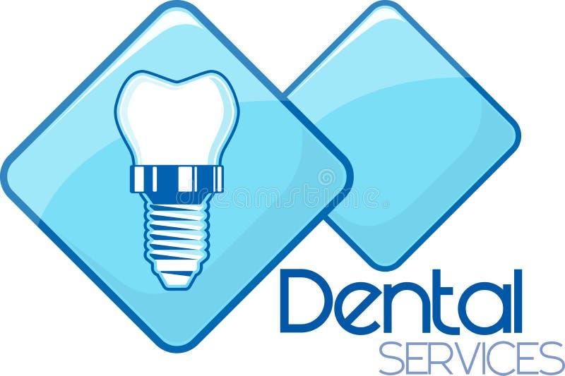 Zahnimplantatdienstleistungen vektor abbildung