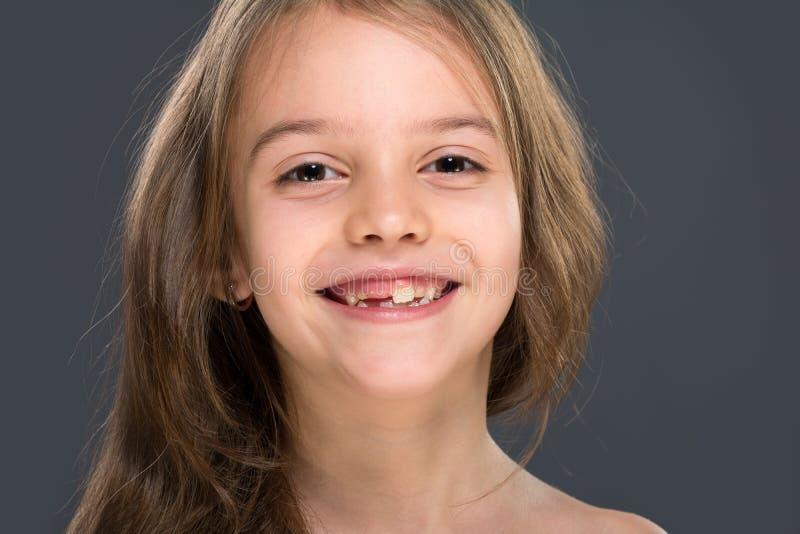Zahnlos Lächeln lizenzfreie stockfotografie