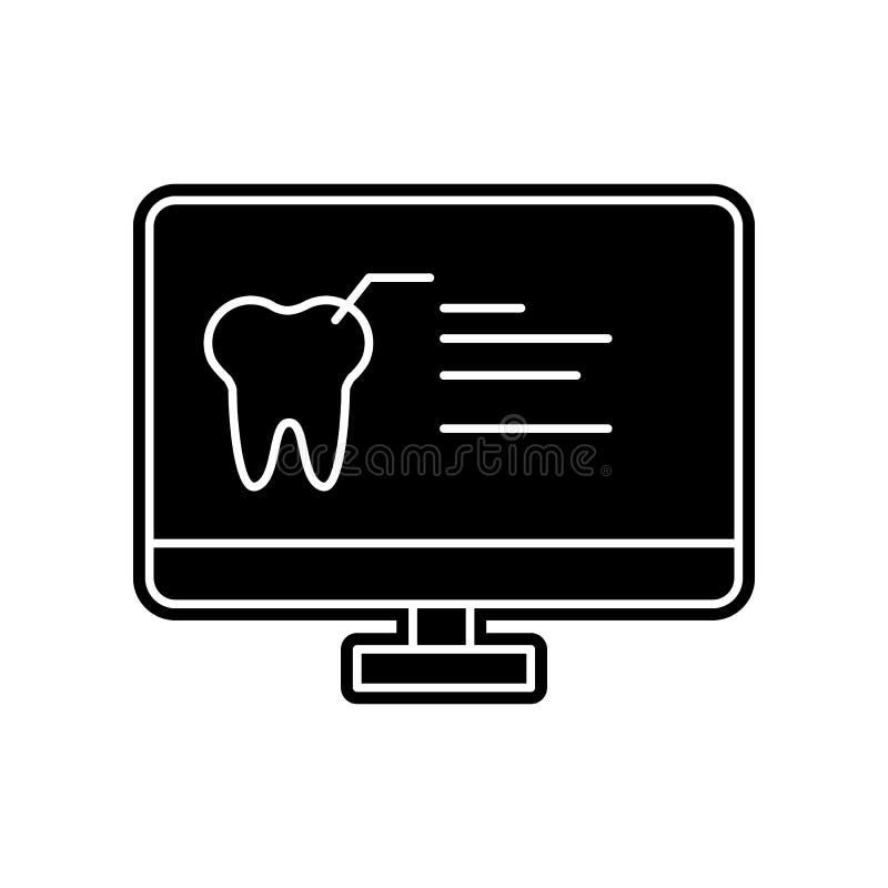 Zahnmedizinische geduldige Karte in der PC-Ikone Element von Dantist f?r bewegliches Konzept und Netz Appsikone Glyph, flache Iko stock abbildung