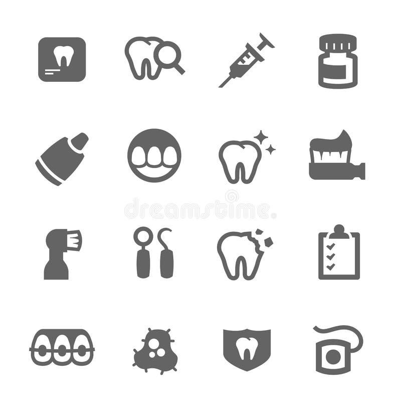 Zahnmedizinische Ikonen lizenzfreie abbildung