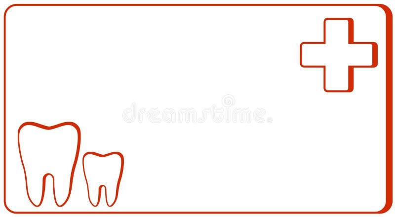 Zahnmedizinische Klinik - Besuchskarte lizenzfreie abbildung