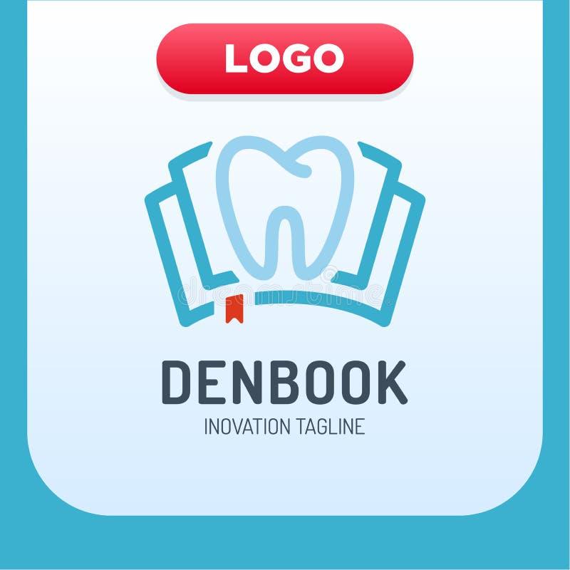 Zahnmedizinische Klinik-Buch-Ikone Logo Design Element vektor abbildung