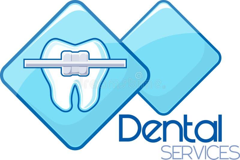 Zahnmedizinische Orthodontie stock abbildung