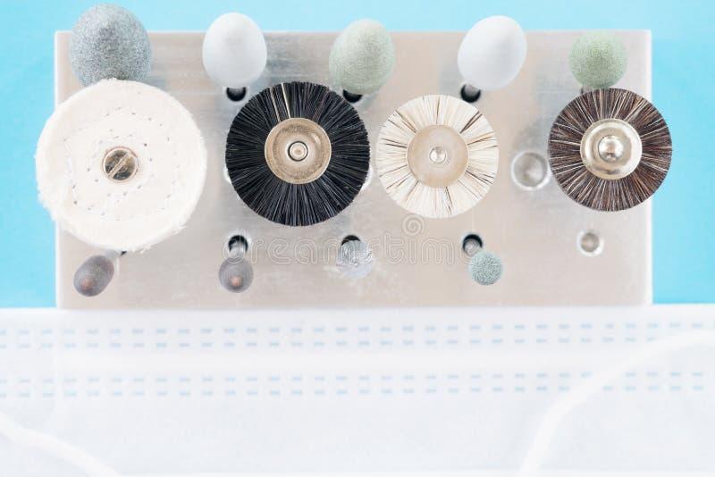 Zahnmedizinische Polierausrüstung stockfoto