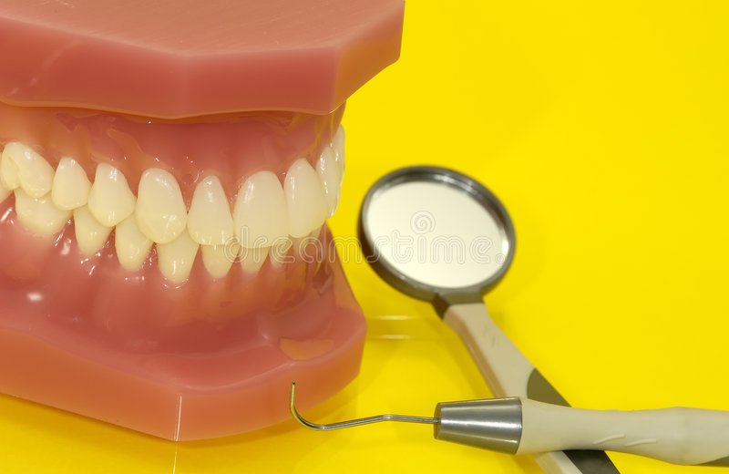 Zahnmedizinische Prüfung stockbild