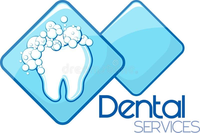 Zahnmedizinische Reinigungsdienstleistungen vektor abbildung