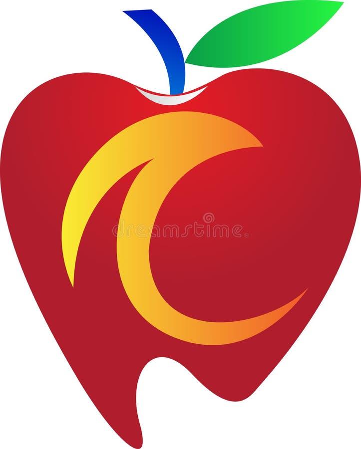 Zahnmedizinischer Apfel lizenzfreie abbildung