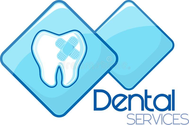 Zahnmedizinischer kurierender Service-Entwurf stock abbildung