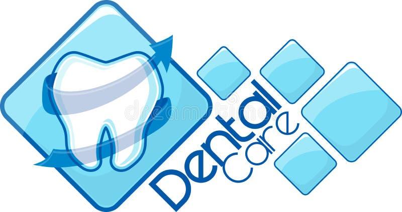 Zahnmedizinischer Vektorentwurf lizenzfreie abbildung