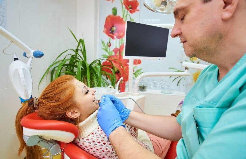 Zahnmedizinisches Büro, zahnmedizinische Behandlung, Gesundheitsverhinderung stockbilder