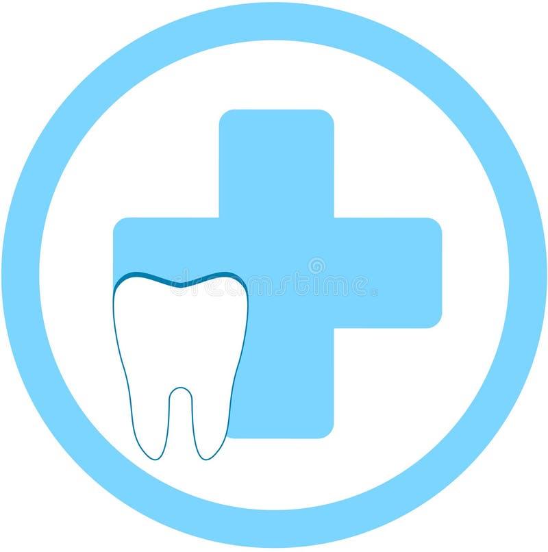 Zahnmedizinisches Kliniksymbol vektor abbildung