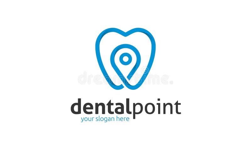 Zahnmedizinisches Punkt-Logo lizenzfreie abbildung