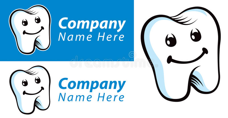 Zahnmedizinisches Zahn-Logo lizenzfreie abbildung