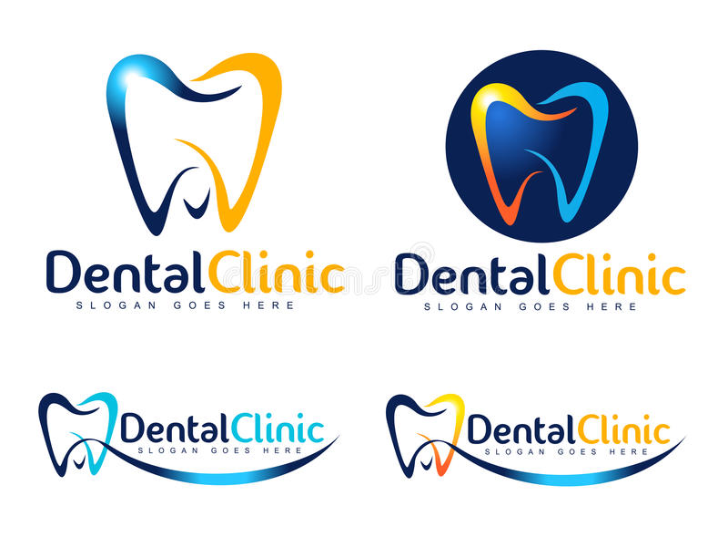 Zahnmedizinisches Zeichen stock abbildung