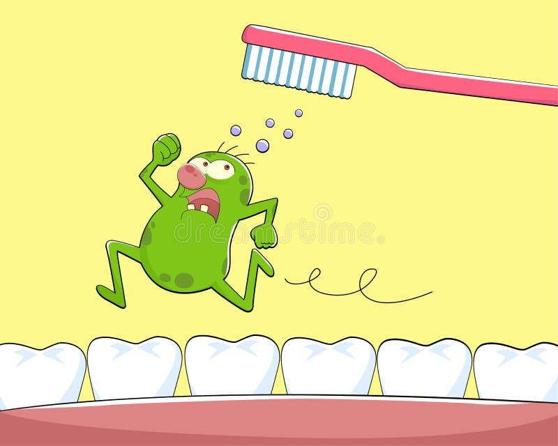 Zahnmikrobe lizenzfreie abbildung