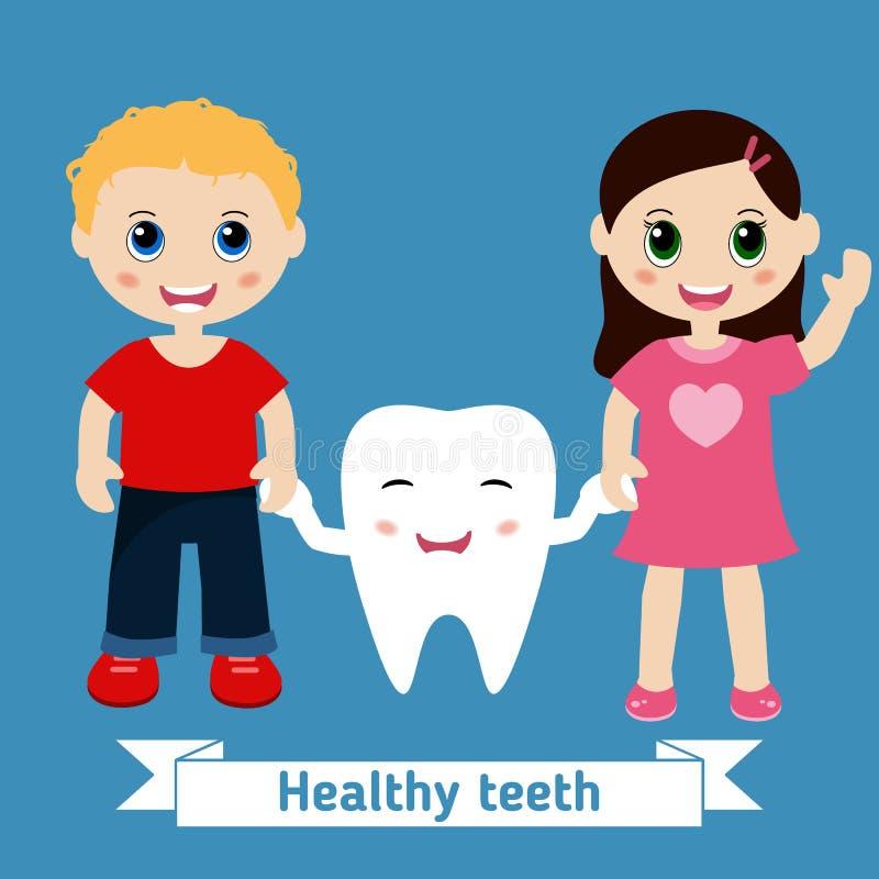 Zahnpflegedesign lizenzfreie abbildung