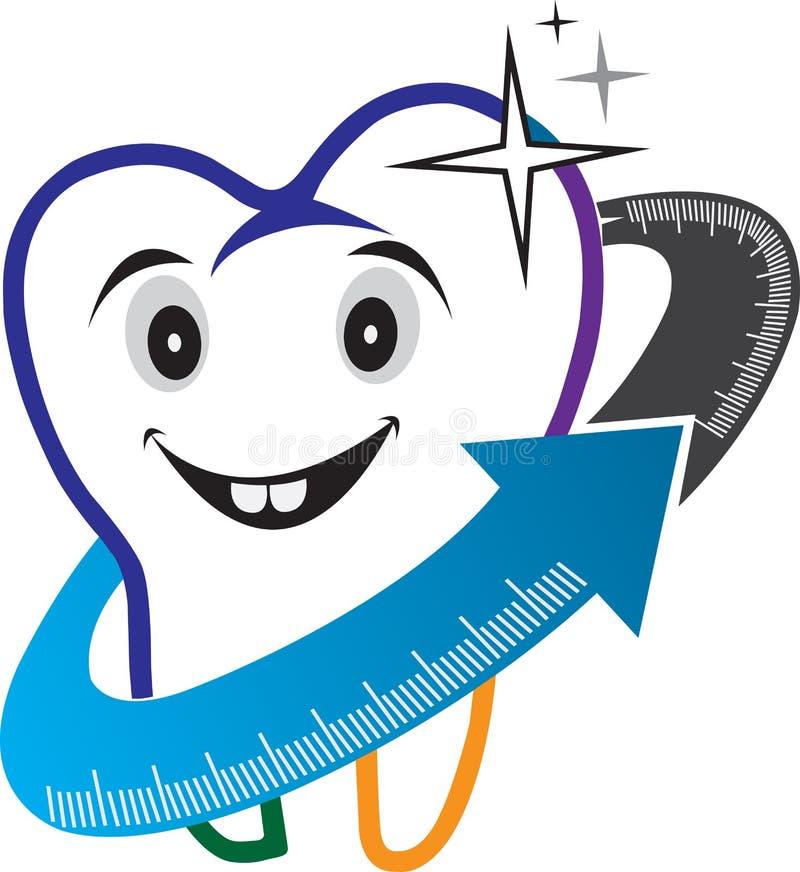 Zahnpflegelogo stock abbildung