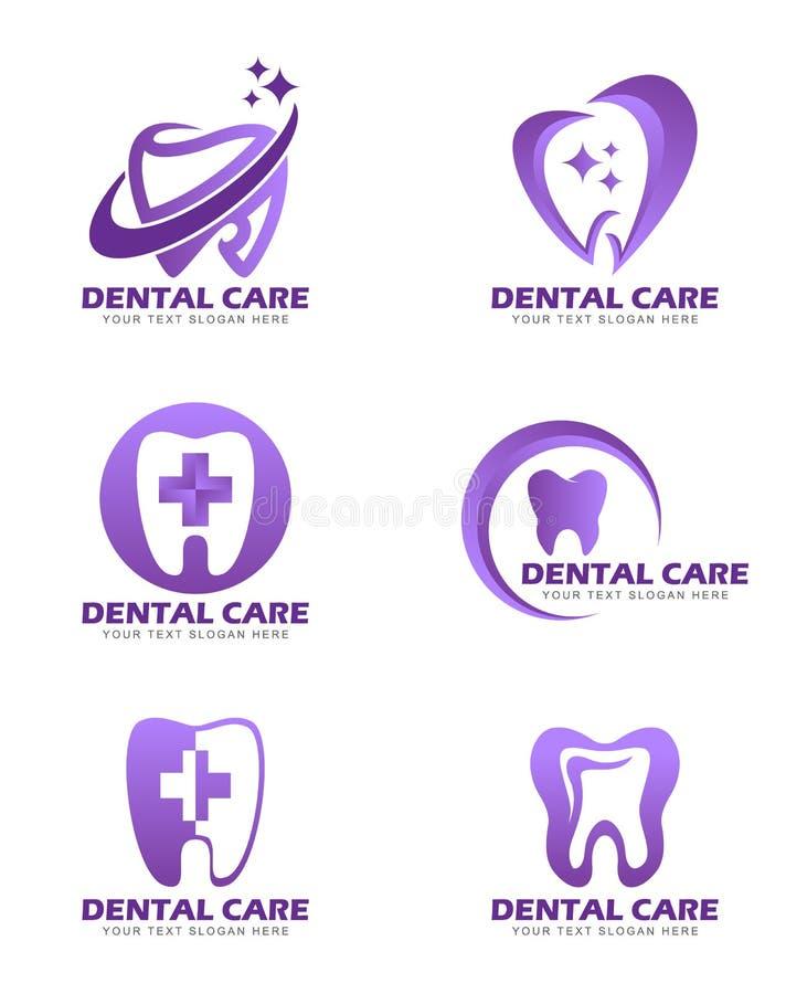 Zahnpflegelogozeichen-Vektorbühnenbild lizenzfreie abbildung