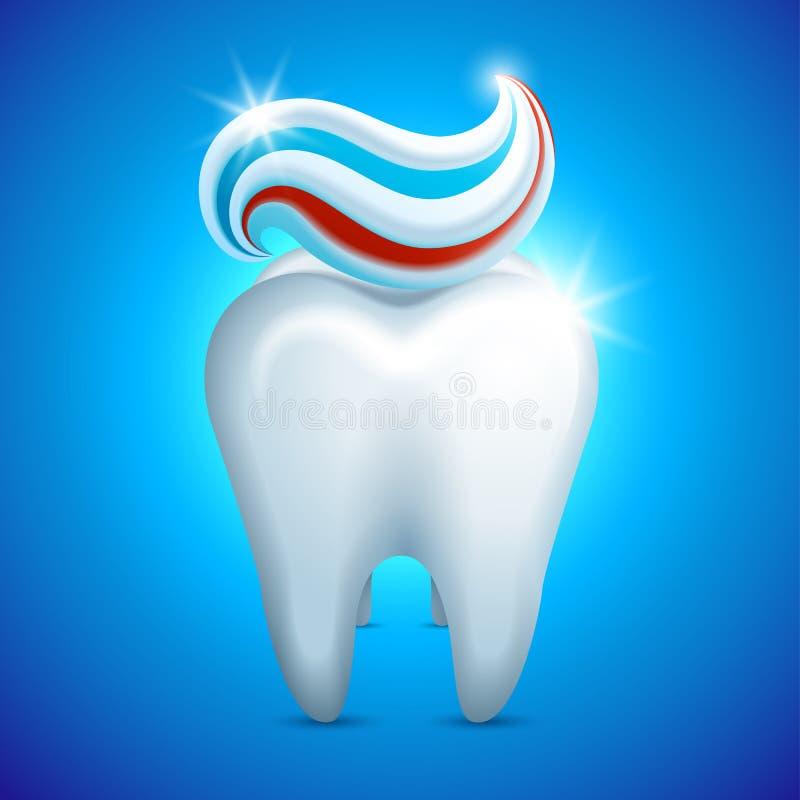 Zahnsäubern lizenzfreie abbildung