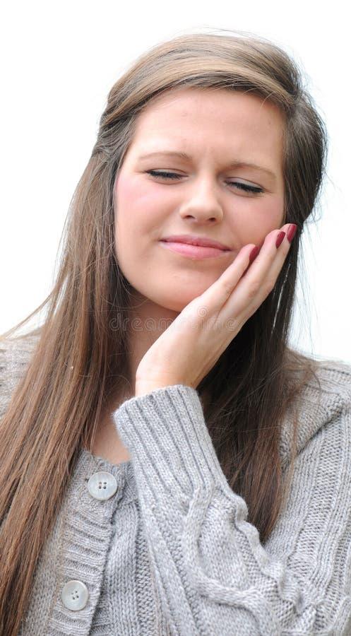 Zahnschmerzen stockbild