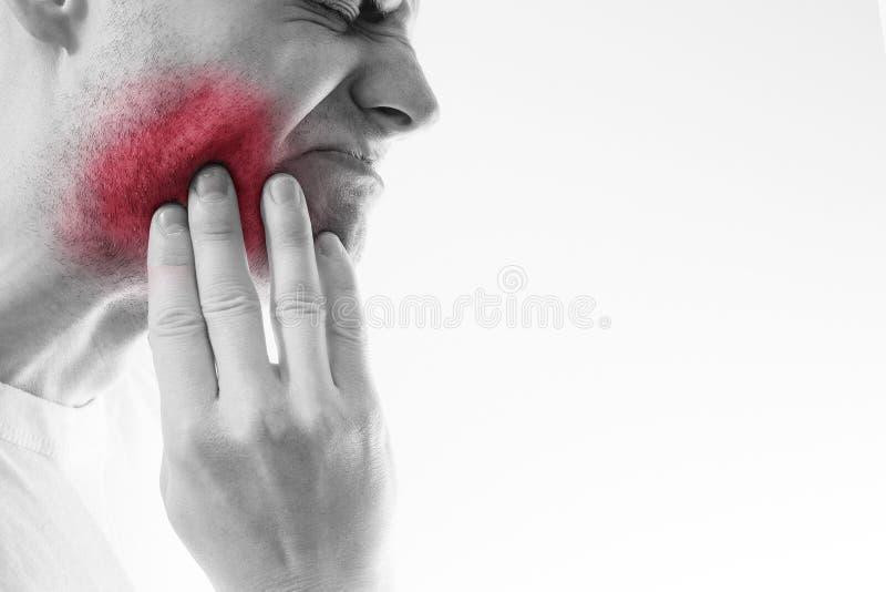 Zahnschmerzen, Medizin, Gesundheitswesenkonzept, Zahn-Problem, jung lizenzfreies stockbild