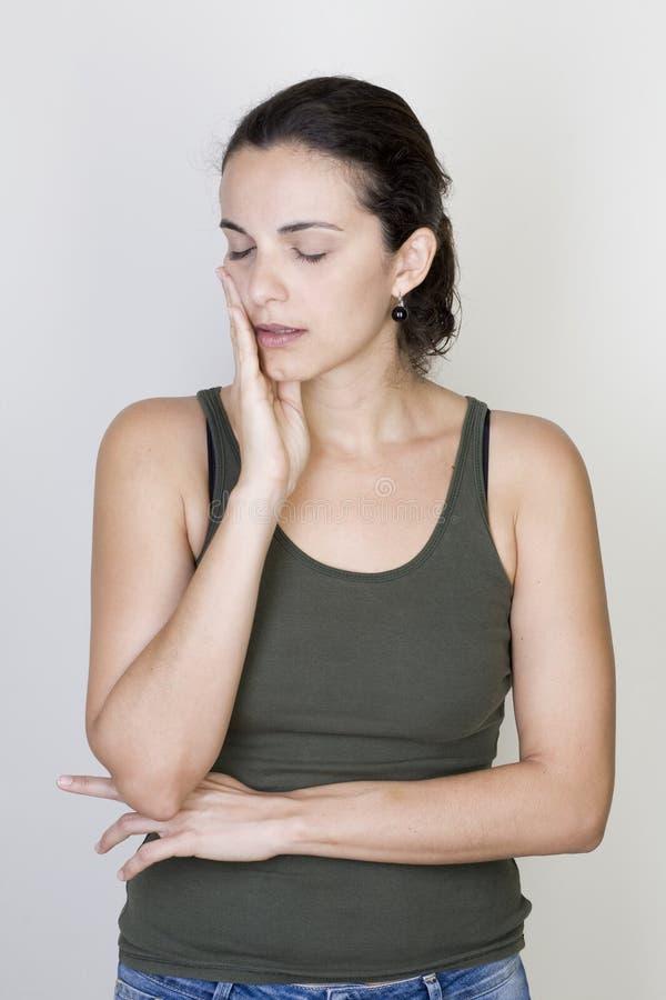 Zahnschmerzenfrau lizenzfreie stockfotos