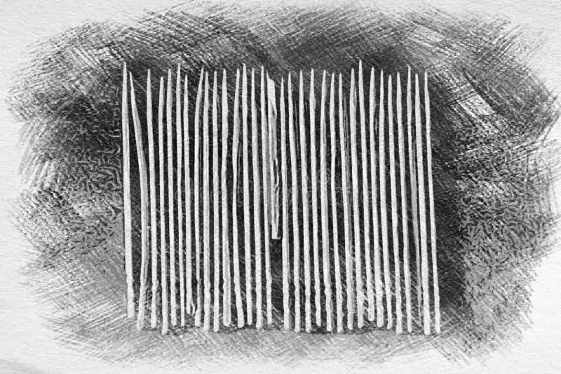Zahnstocher und Match, wenn Backgound ausgebrütet wird lizenzfreie stockfotografie
