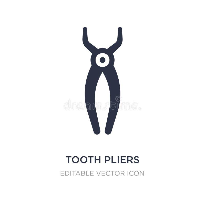 Zahnzangenikone auf weißem Hintergrund Einfache Elementillustration vom Zahnarztkonzept stock abbildung