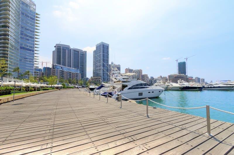 Zaitunay海湾在贝鲁特,黎巴嫩 库存图片