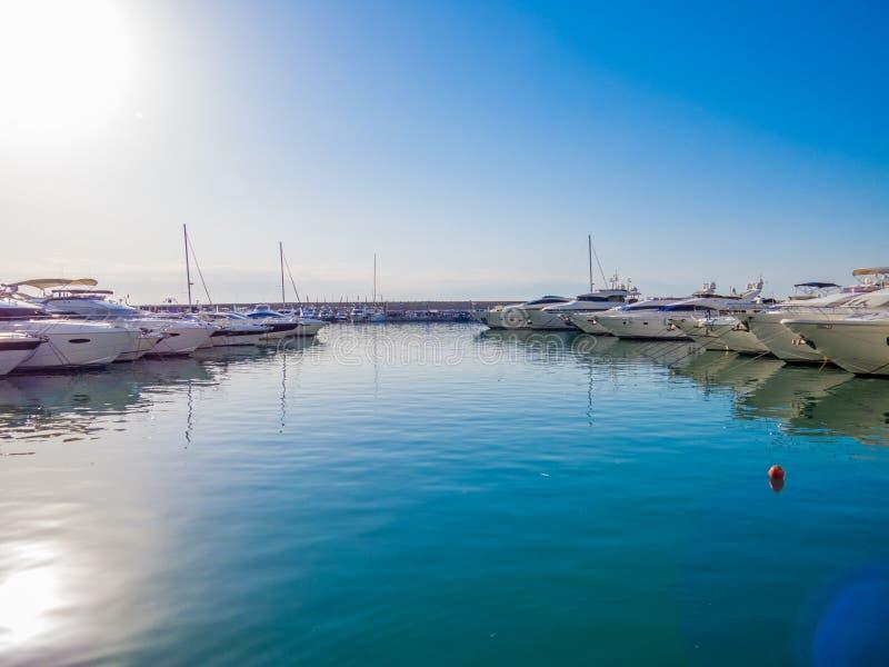 Zaitunay Bay in Beirut, Lebanon royalty free stock image
