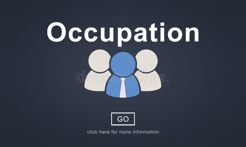 Zajęcie Akcydensowej pracy kariery zawodu Okupacyjny pojęcie ilustracji