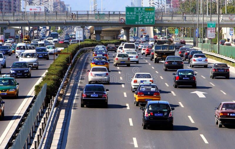 zajęty beijing road obrazy stock