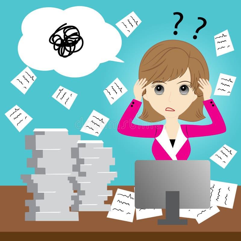 zajęty biznesowej kobieta ilustracji