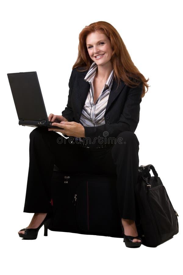 zajęty podróżnik obraz stock
