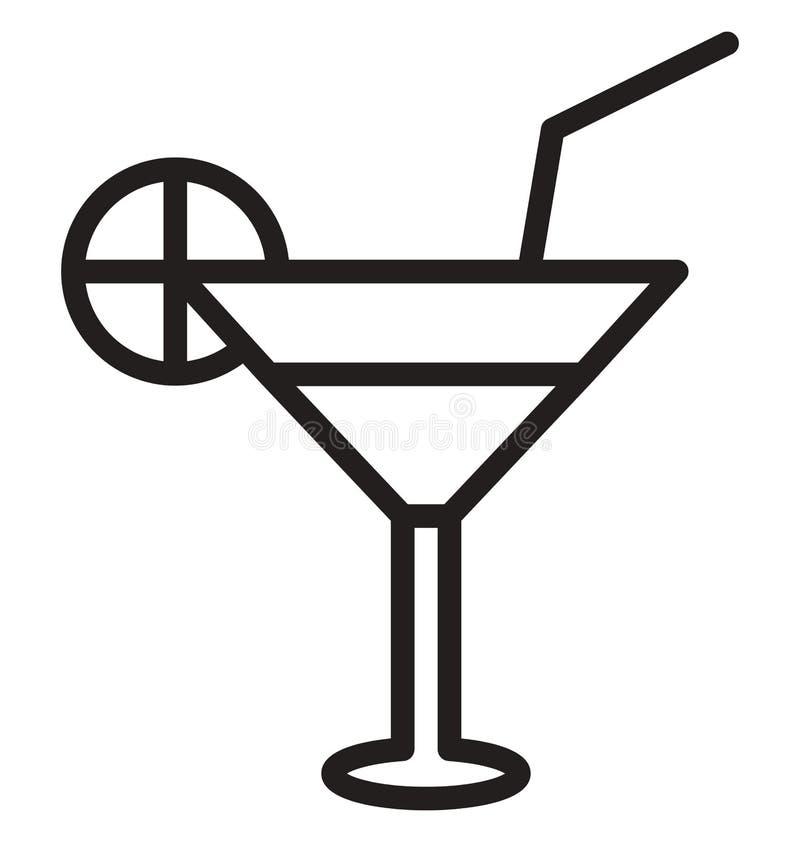 Zakąska napoju Wektorowa ikona która może łatwo redagować lub modyfikująca ilustracja wektor