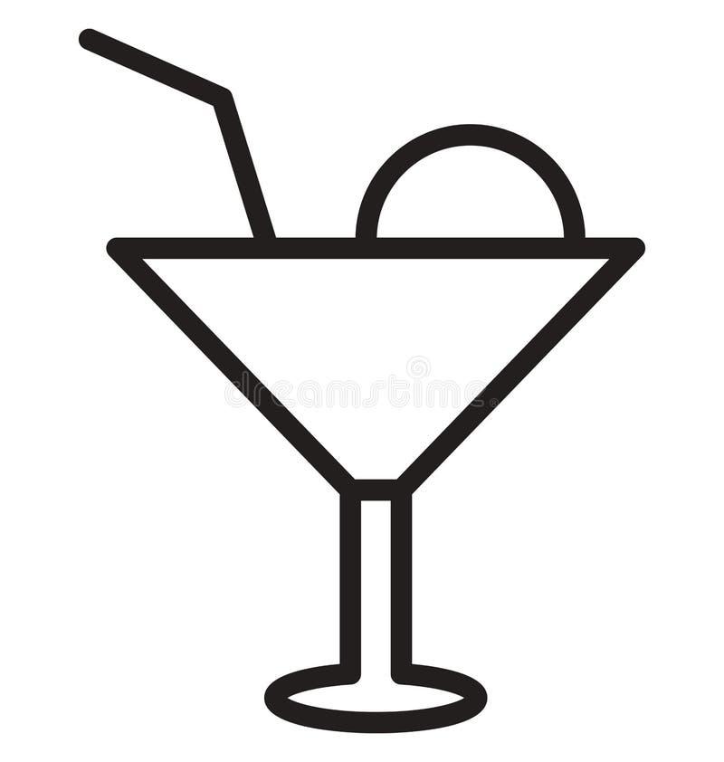 Zakąska napoju Wektorowa ikona która może łatwo redagować zakąska napoju Wektorową ikonę lub modyfikująca która może łatwo redago ilustracja wektor