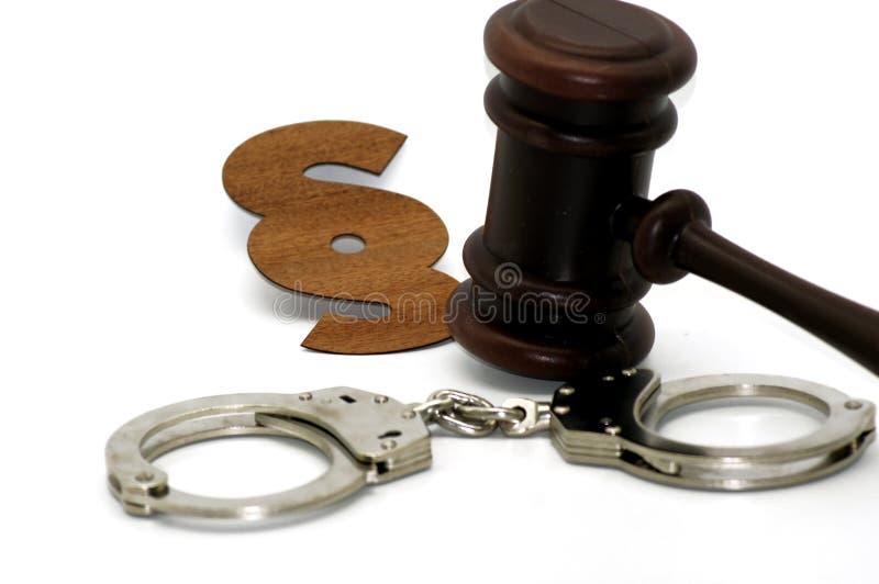 Zakłada kajdanki symbol przestępstwo fotografia stock