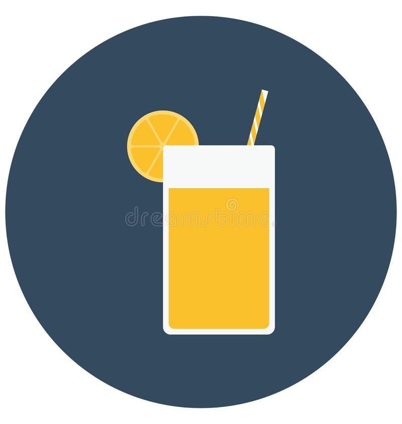Zakąska napój, napój Odizolowywał kolor Wektorową ikonę która może łatwo redagować lub modyfikująca royalty ilustracja