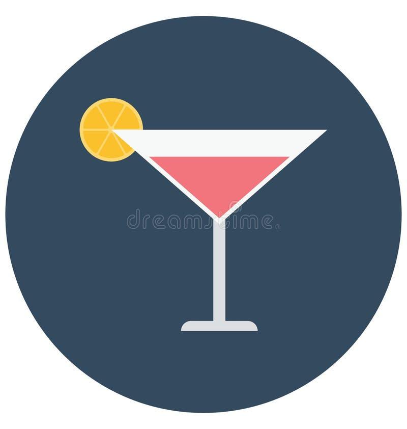 Zakąska napój, napój Odizolowywał kolor Wektorową ikonę która może łatwo redagować lub modyfikująca ilustracji