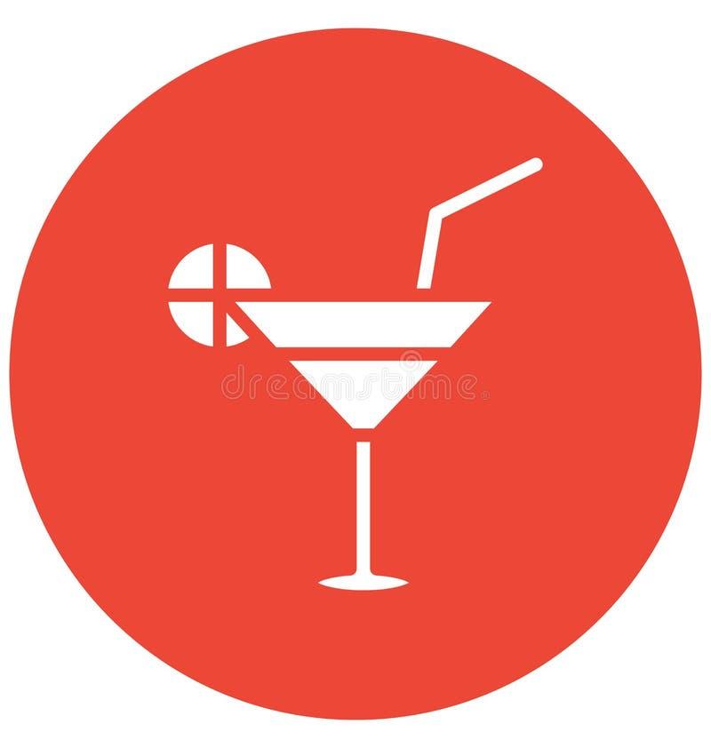 Zakąska napoju Wektorowa ikona która może łatwo redagować lub modyfikująca ilustracji