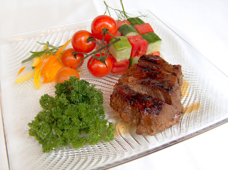zakąski grilla wołowina gorąca zdjęcie royalty free