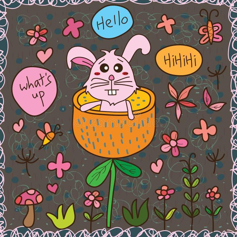 Zakłóca królika bezszwowego wzór cześć ilustracja wektor