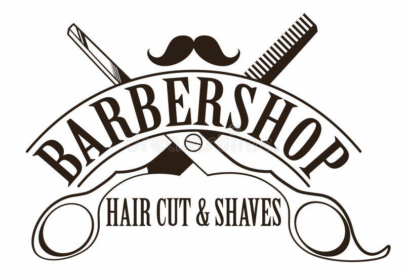 Zakładu fryzjerskiego logo ilustracja wektor