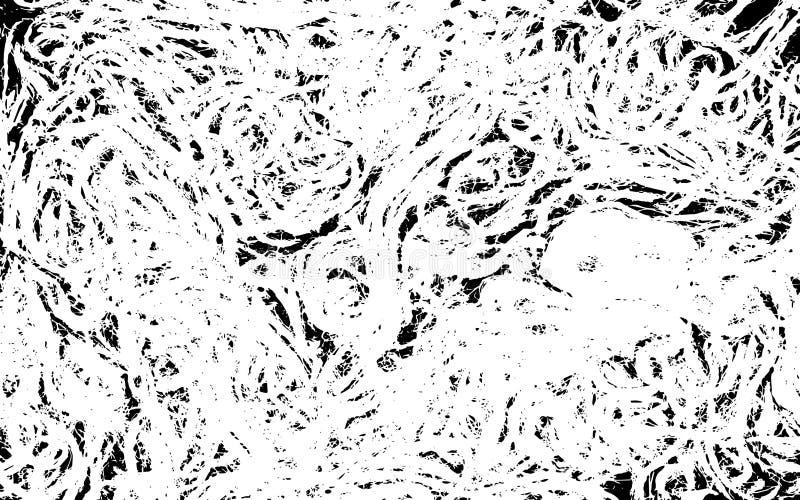 Zakłopotana Krakingowa narzuty tekstura Kołtuniaści sznury ilustracja wektor