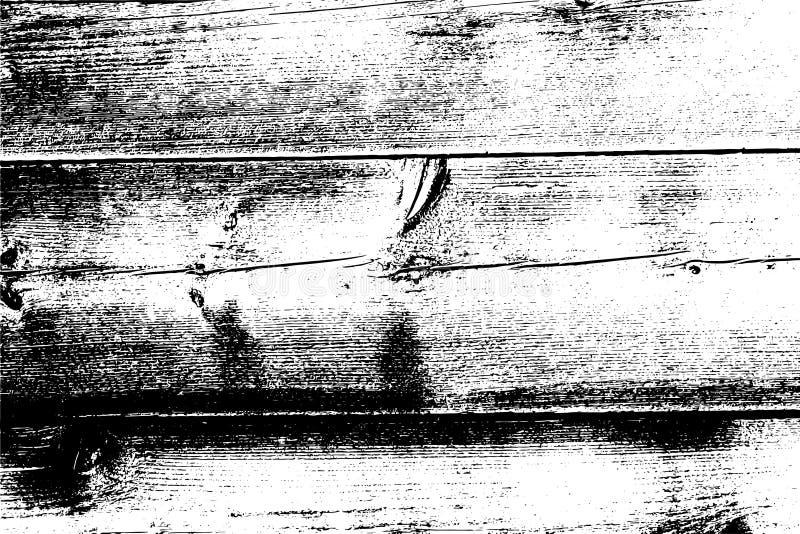 Zakłopotanego halftone grunge wektorowa tekstura - stary drewniany narysu tło Czarny i biały wektorowa ilustracja dla pyłu royalty ilustracja